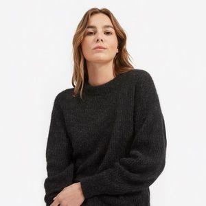 Free People Black Alpaca Crewneck Sweater